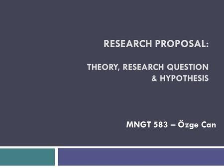 Research Methodology-1 Writing Research Proposal